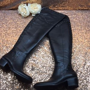 Vince Camuto Black Over the Knee Boots